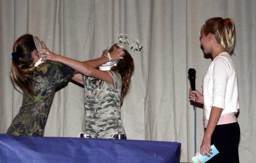ernest ward middle�s got talent pie in the face