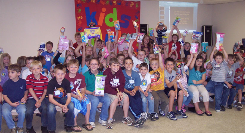 The highland baptist church kids klub presented the results of their