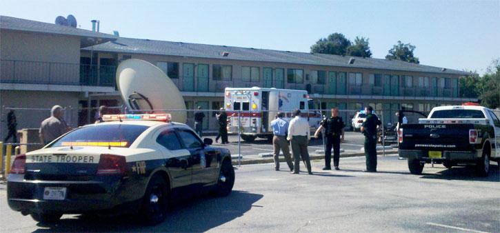 deputy shot  shooter killed  meth lab found