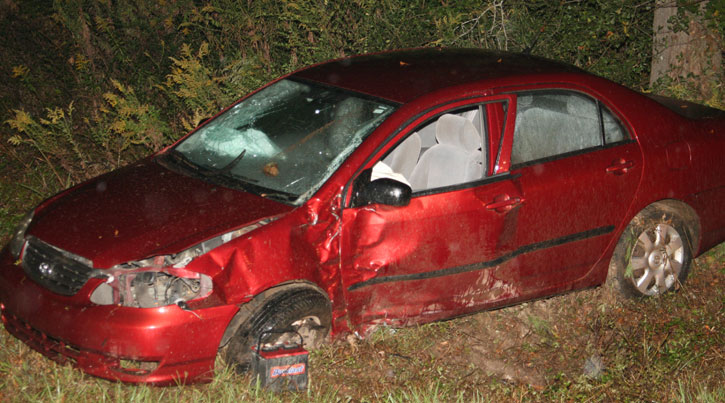 female was ejected from her vehicle in a single car crash Sunday ...