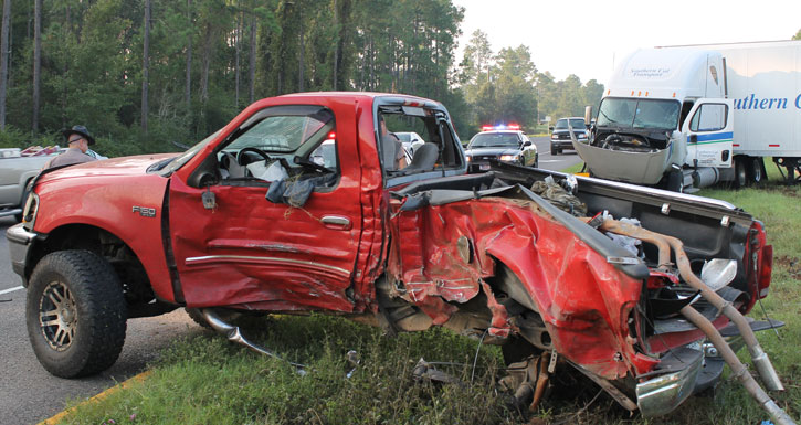 Two Seriously Injured In Pickup, Semi Crash (With Photo ...