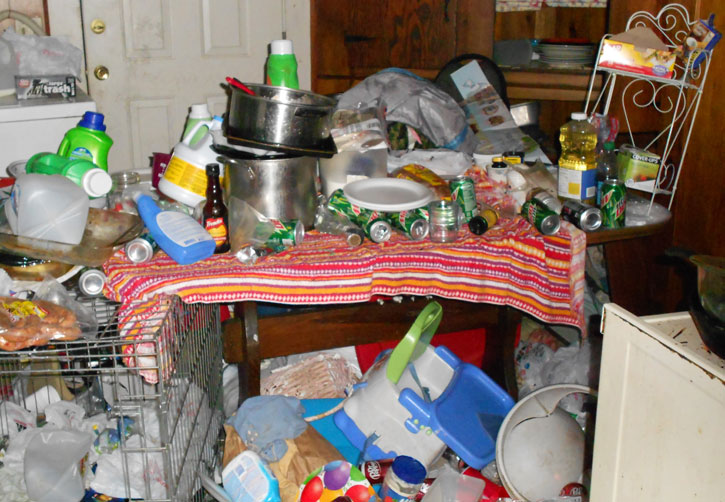 Child neglect arrest photos released of filth in jay home for Cleaning out house after death