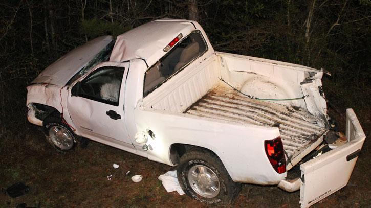 one injured in north highway 99 rollover crash