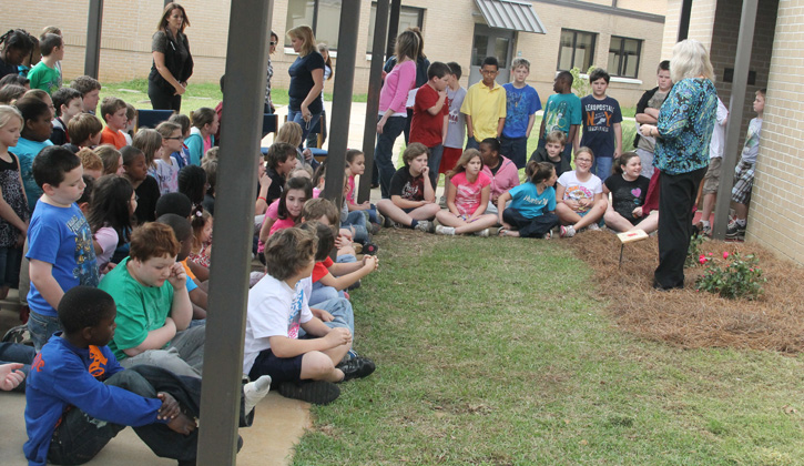 Bratt Elementary Dedicates Meagan Wilburn Rose Garden With
