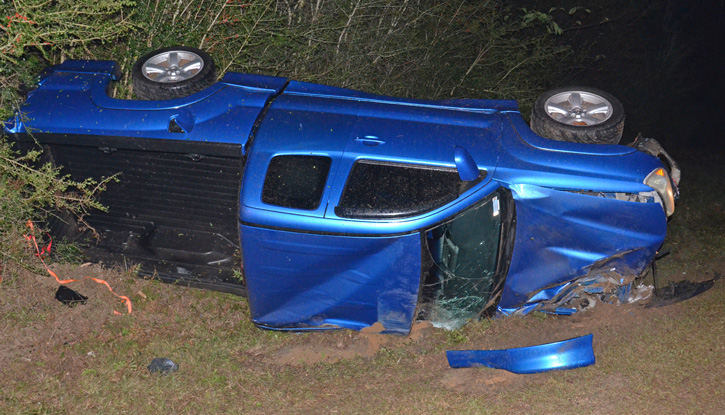 driver cited after cottage hill rollover wreck