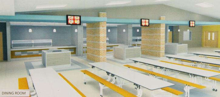 Sneak peek color scheme inside the new ernest ward middle for Interior design schools in mississippi