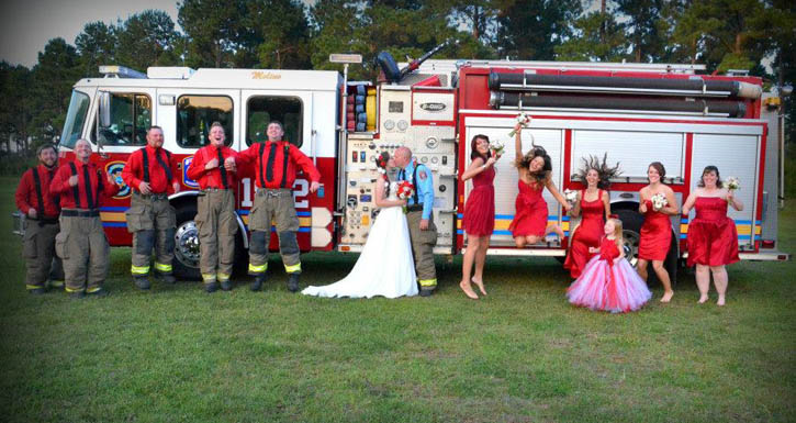 Photos A Firefighters Wedding NorthEscambia