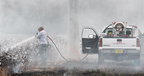 Wildfire Burns Portion Of Walnut Hill Cotton Field