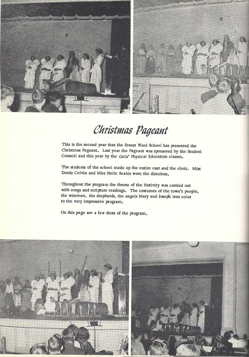 "Below: ""In Celebration of Christmas"", 1988, Ernest Ward High ..."