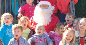 Your Photos: Santa Visits Friendship Kids