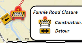 Fannie Road Closes This Week For Bridge Replacemet