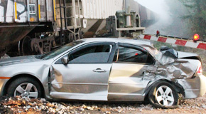 Woman Escapes Injury In Train Vs. Car Crash Near Molino