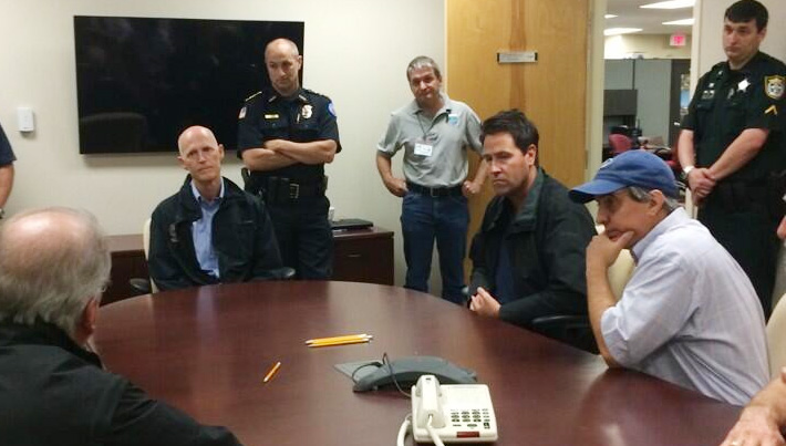 Gov. Scott Meets With Escambia Officials, Tours Flooding