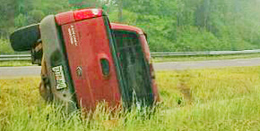 No Injuries In Highway 29 Rollover Accident