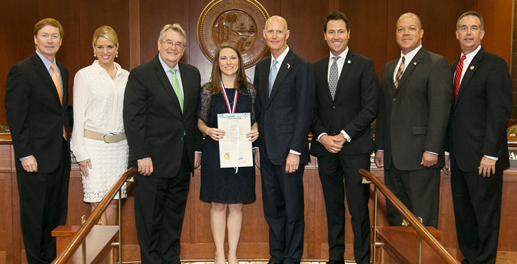 During A Meeting Of Florida Cabinet Tuesday, Gov. Rick Scott Recognized An  Escambia County Teacher And Two Other Educators For Their Contributions To  ...