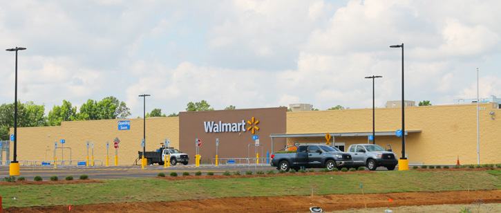 Construction is nearly complete on the area's newest Walmart store in  Atmore, and an opening date of August 6 has been announced.