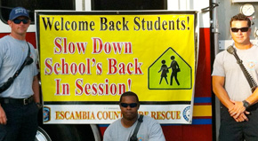 Escambia Firefighters, EMS Crews Work To Keep School Zones Safe