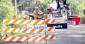 Work On Brickyard Road Bridge Replacement Continues