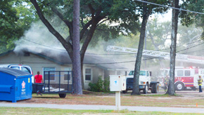 Afternoon Fire Damages Nine Mile Road Business