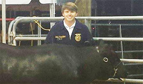 Molino's Cunningham Shows Champion Steer At Fair