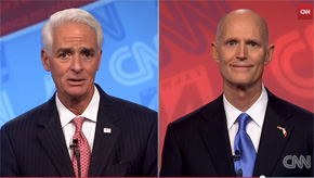 Scott, Crist Turn Up The Heat In Final Debate