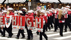 Tate High Showband Marches In Philadelphia Parade