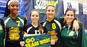 West All-Stars Beat The East In All-Star Volleyball