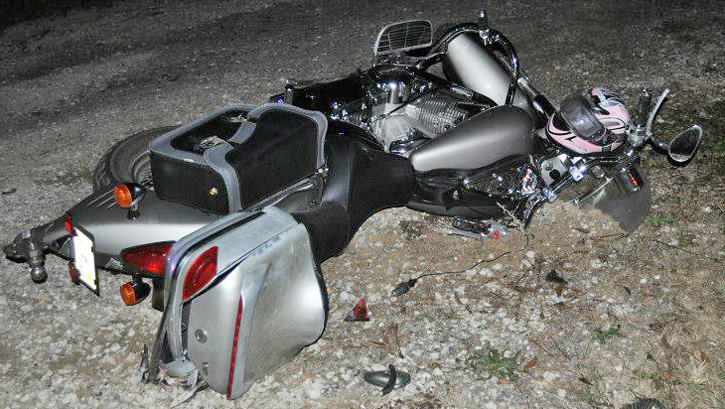 Two People Were Injured In A Collision Involving Pickup And Motorcycle Saturday Night Cantonment