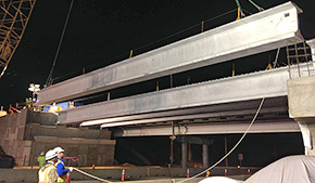 Photos: Installation Of 54 Ton Beams Cause Delays On I-10