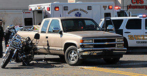 Motorcyclist Injured In Collision With Pickup On Nine Mile Road