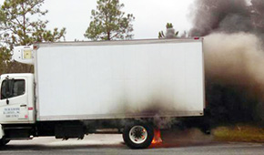 Grilled Seafood — Fire Heavily Damages Delivery Truck