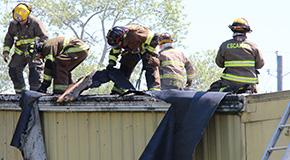 Roof Fire Damages Century Auto Parts