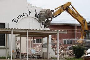 Most Of 'Landmark' Ernest Ward Middle School Now Gone