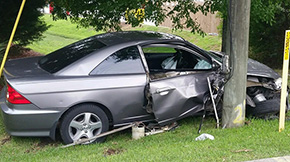 No Injuries In Cantonment Crash