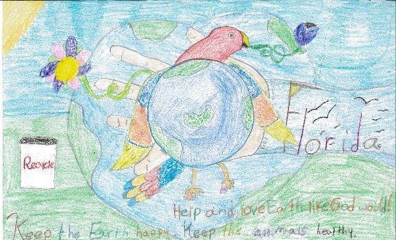 Earth Day Poster Contest Winners All From Molino Park Elementary Are L R Carolyn Wilbanks First Cody Chavers Second And Sara Sconiers Third