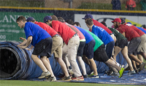 Blue Wahoos At Smokies Rained Out