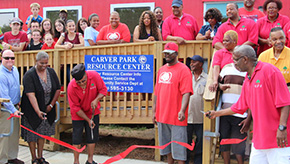 Ribbon Cut On Carver Park Improvements In Cantonment