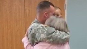 Ernest Ward Teacher Receives Surprise Visit From Soldier Son (With Video)