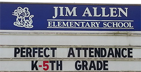 Jim Allen Elementary Recognizes Students For Six Years Of Perfect Attendance