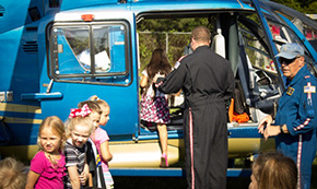 Elementary Students Get Up Close Look At LifeFlight