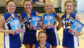 Ernest Ward Cheerleaders Attend Summer Camp; Five Named 'All American'