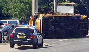 Multiple Injuries In School Bus Wreck In Pensacola; Dump Truck Ran Red Light