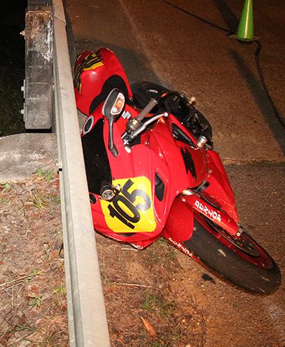 Motorcyclist Hits Guardrail, Thrown Off Bridge
