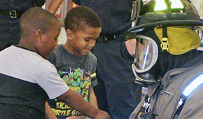 Camp Fire Kids Learn Fire Safety From Escambia Fire Rescue