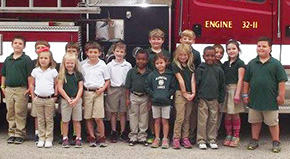 Students Learn Fire Safety