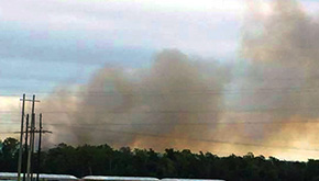 Forest Service, Fire Departments Watching Island Fire On Escambia River