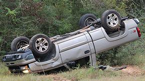 No Injuries When Driver Overturns Near Bridge