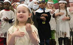 Photos: Camp Fire Kids Celebrate Thanksgiving With Feast