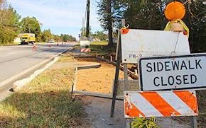 Sidewalk, Pedestrian Improvements Underway Along Highway 29