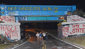 #AGGIENATION: Graffiti Bridge Proclaims 'Tate To State'